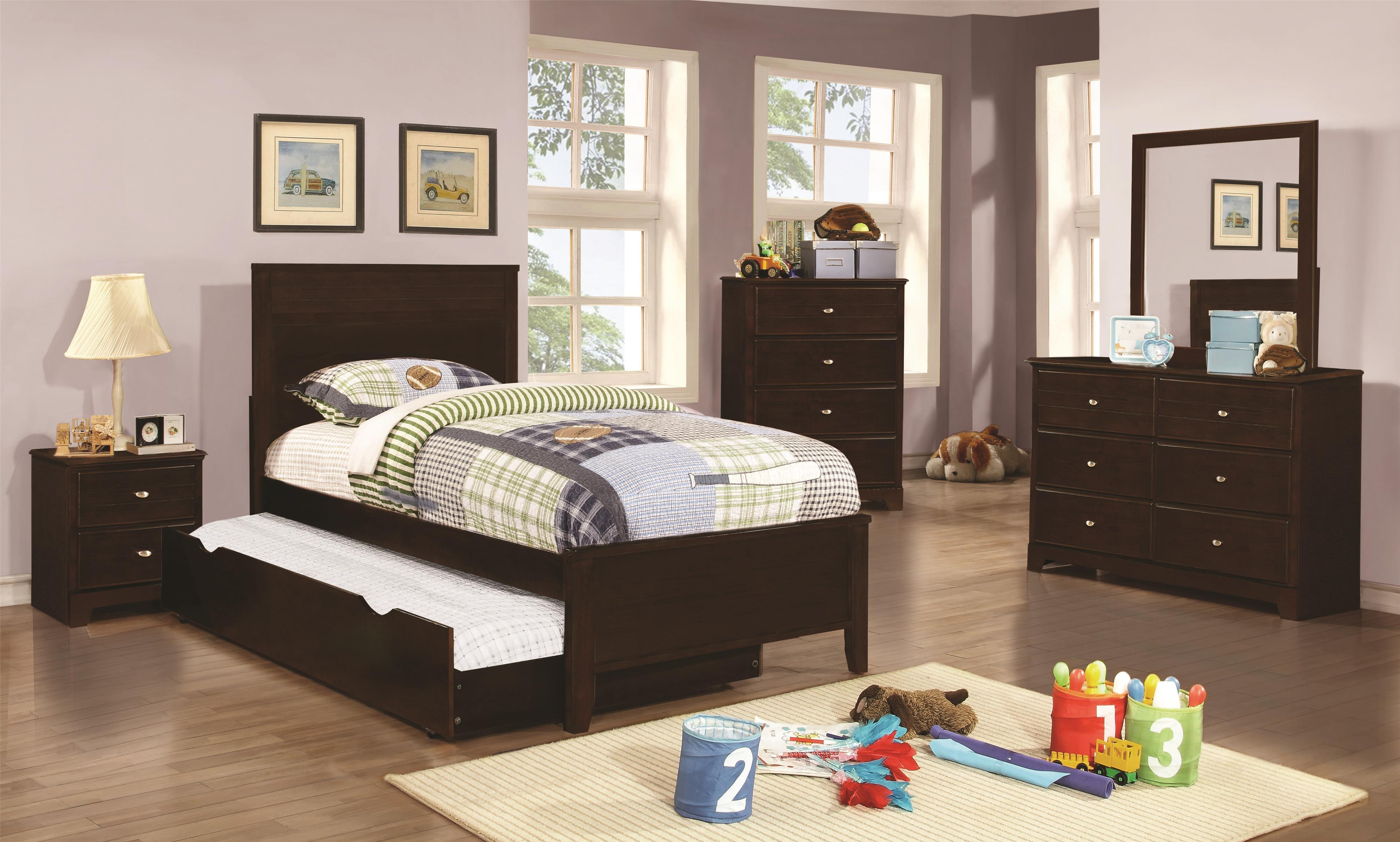 Coaster Ashton Collection Twin Bedroom Group - Item Number: 40077 T Bedroom Group 2