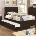 Coaster Ashton Collection Full Bed with Trundle - Item Number: 400771F+400776