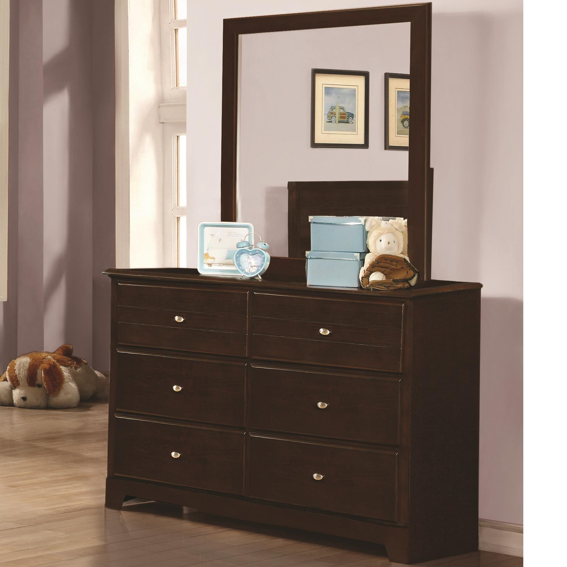 Coaster Ashton Collection Dresser and Mirror - Item Number: 400773+400774