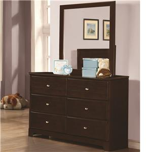 Coaster Ashton Collection Dresser and Mirror