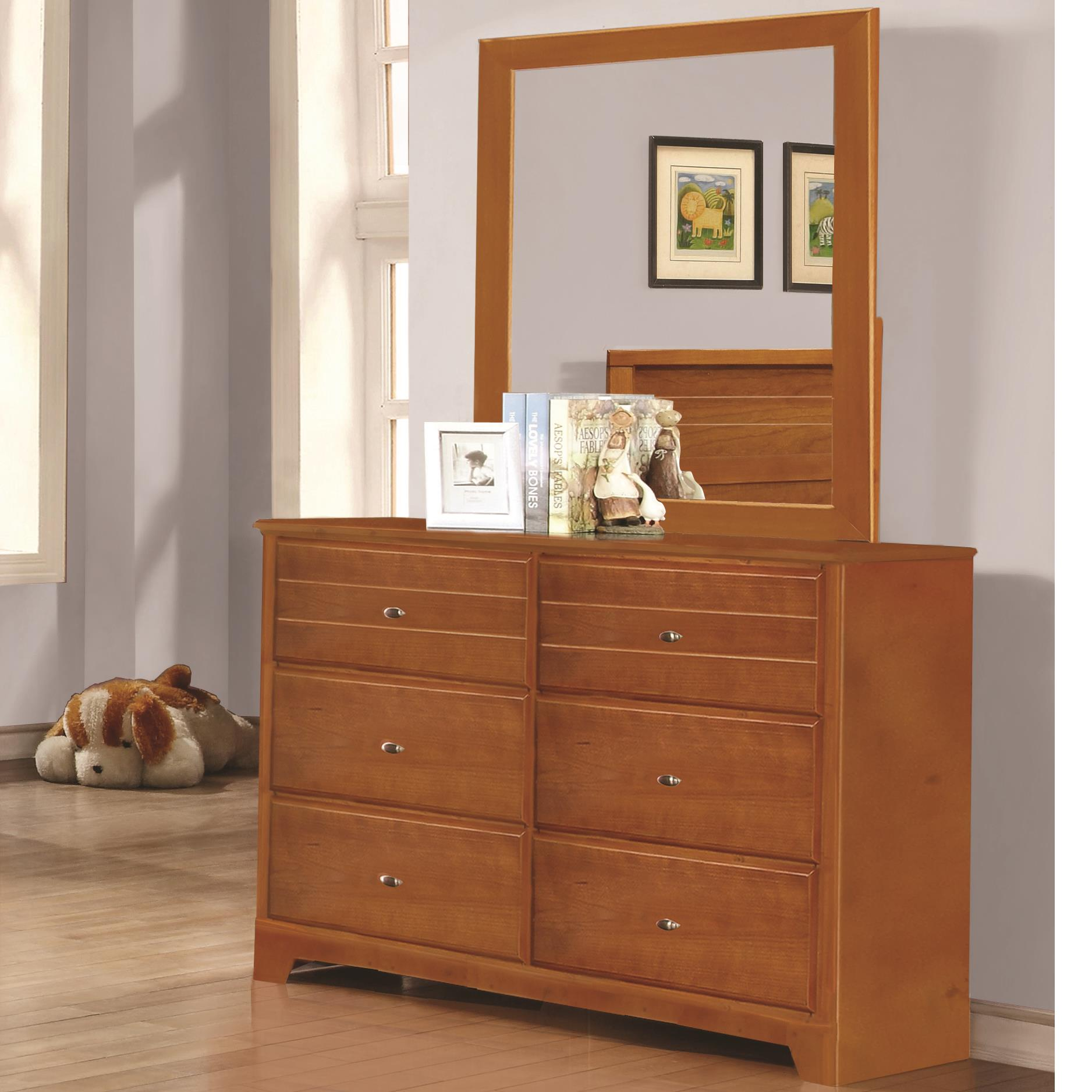 Coaster Ashton Collection Dresser and Mirror - Item Number: 400813+400814