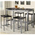 Coaster Atlus 5 Piece Counter Height Dining Set - Item Number: 150095