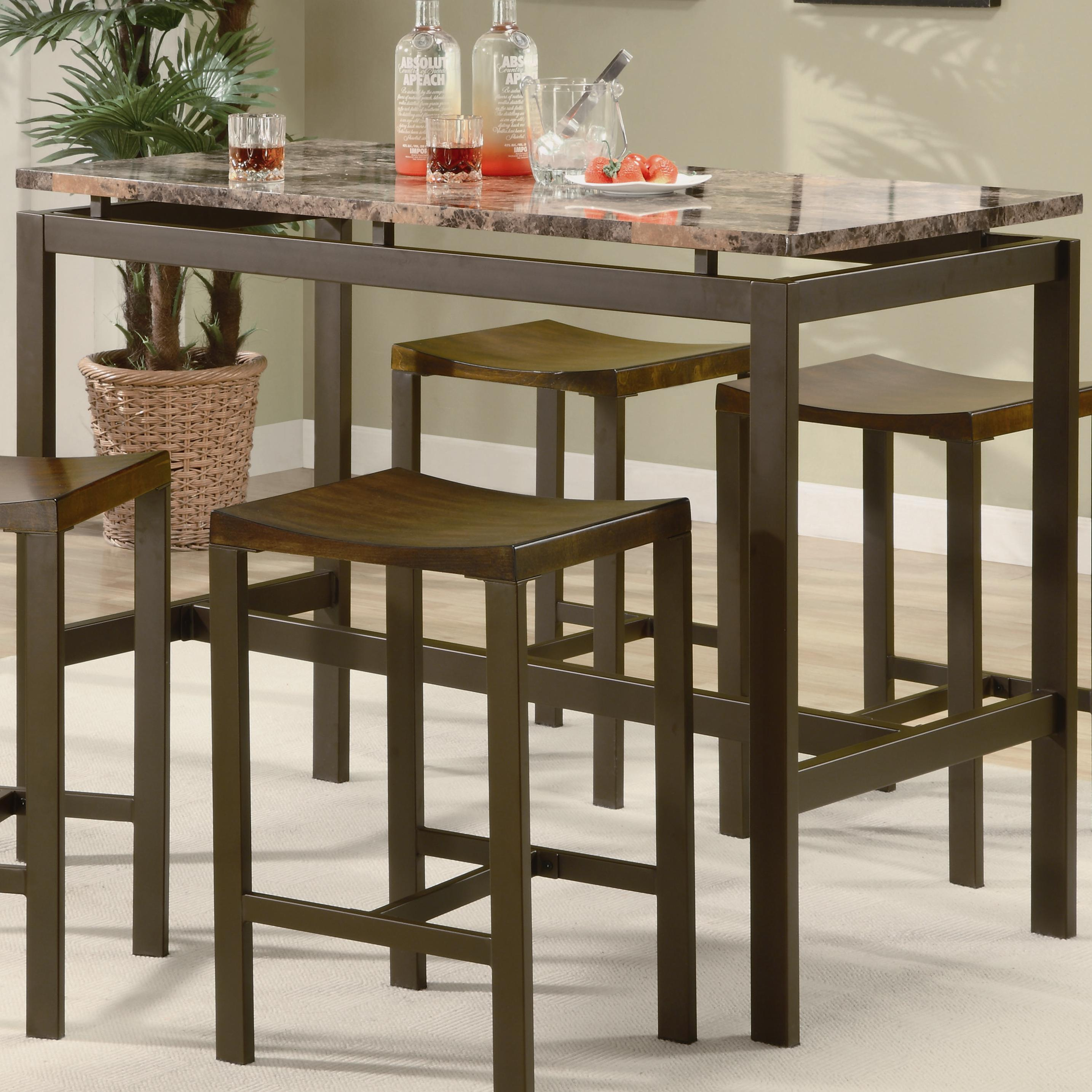 Coaster Atlus 5 Piece Counter Height Dining Set - Item Number: 150096