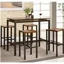 Coaster Atlus 5 Piece Counter Height Dining Set
