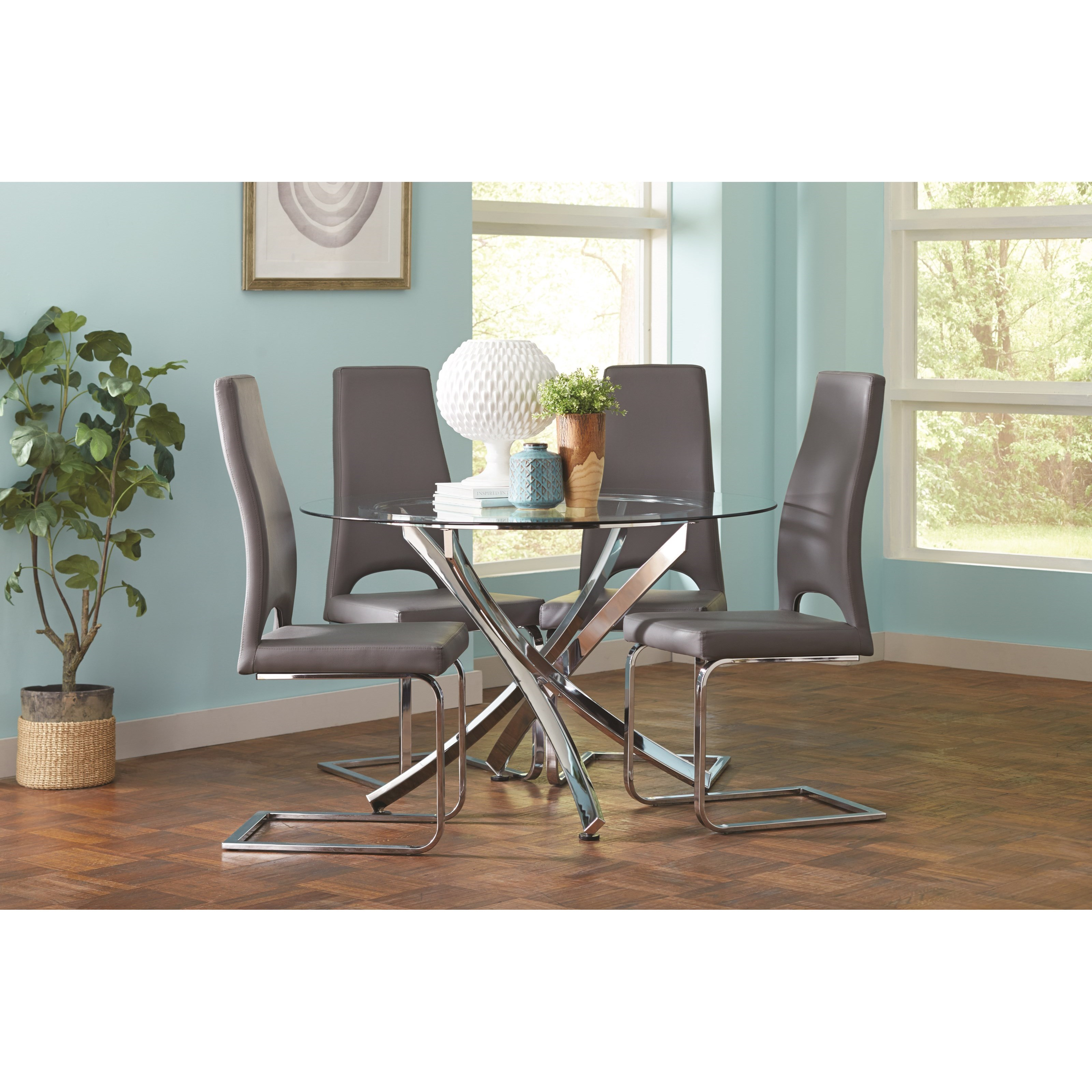 Coaster Augustin Table and Chair Set - Item Number: 106441+4x104816