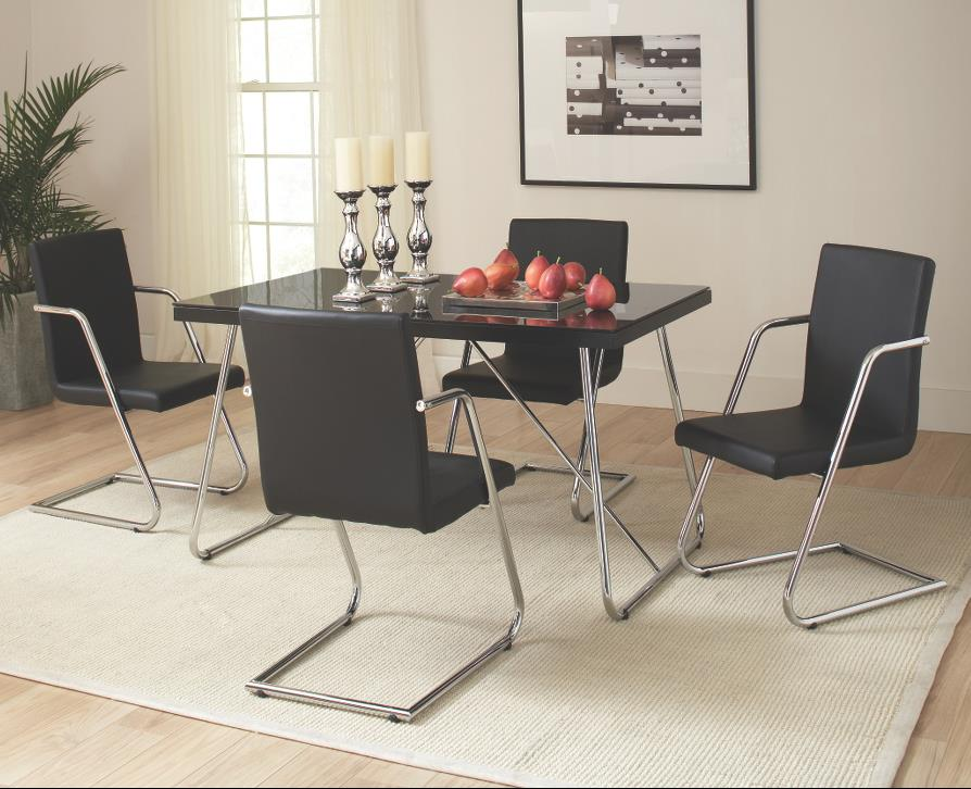 Coaster Avram Table and Chairs Set - Item Number: 106211+4x212