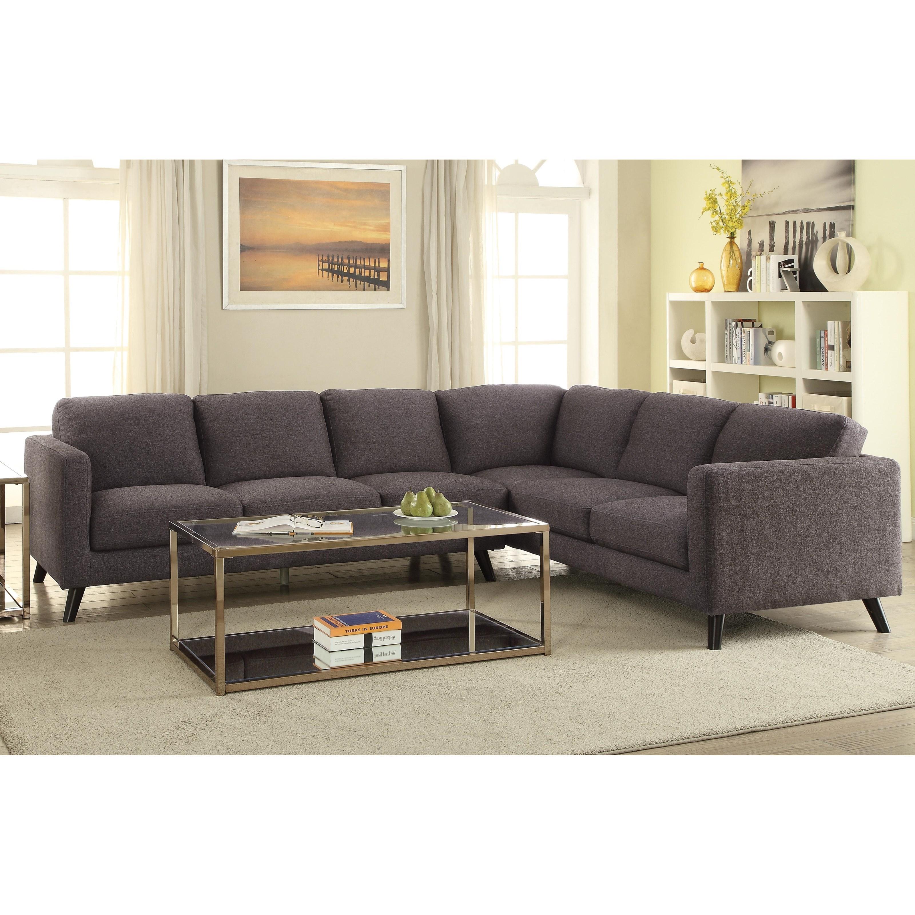 Coaster Azalea Mid Century Modern Sectional Value City Furniture Sectional Sofas