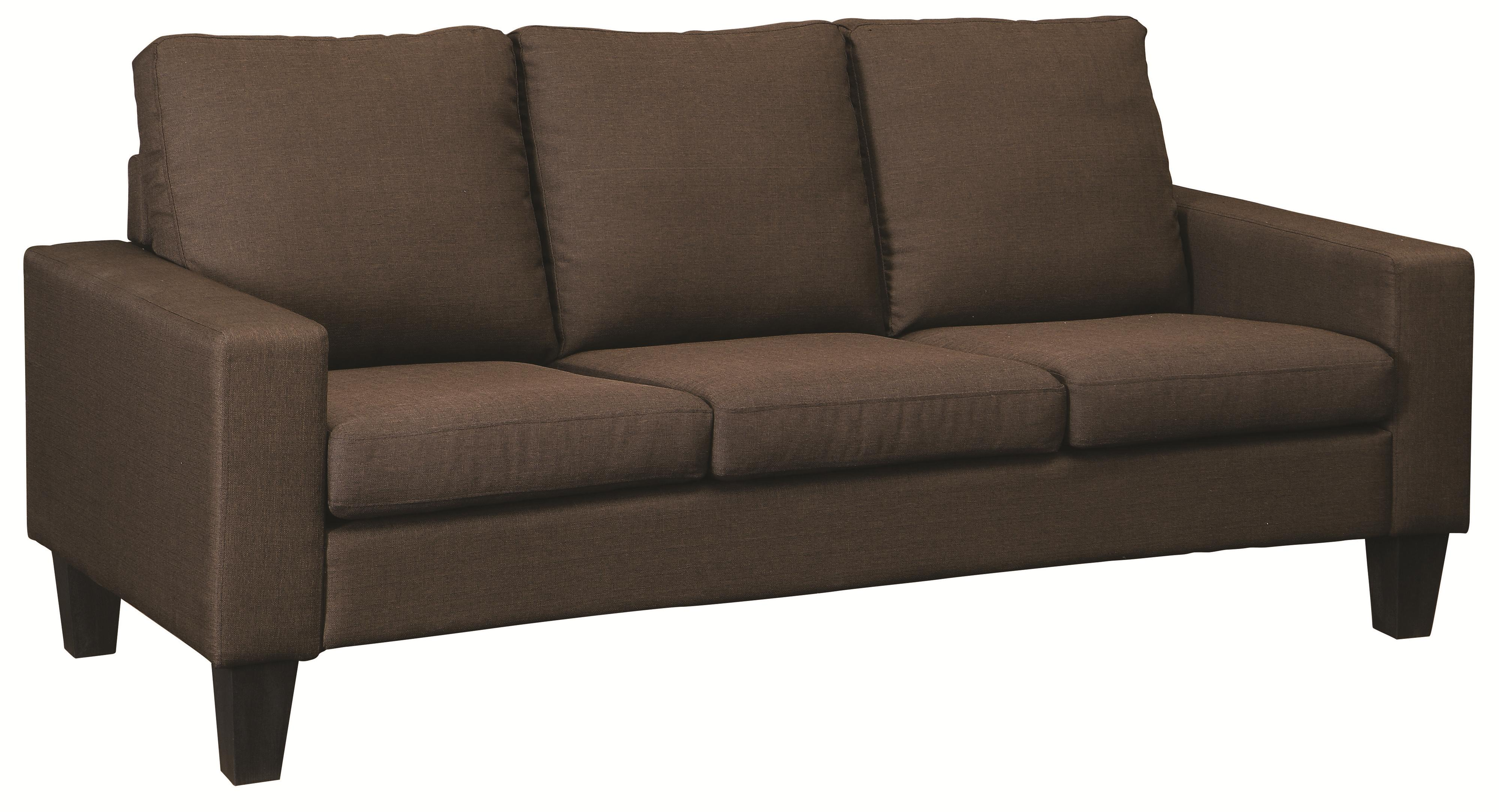 Coaster Bachman Stationary Sofa - Item Number: 504767-Chocolate Linen