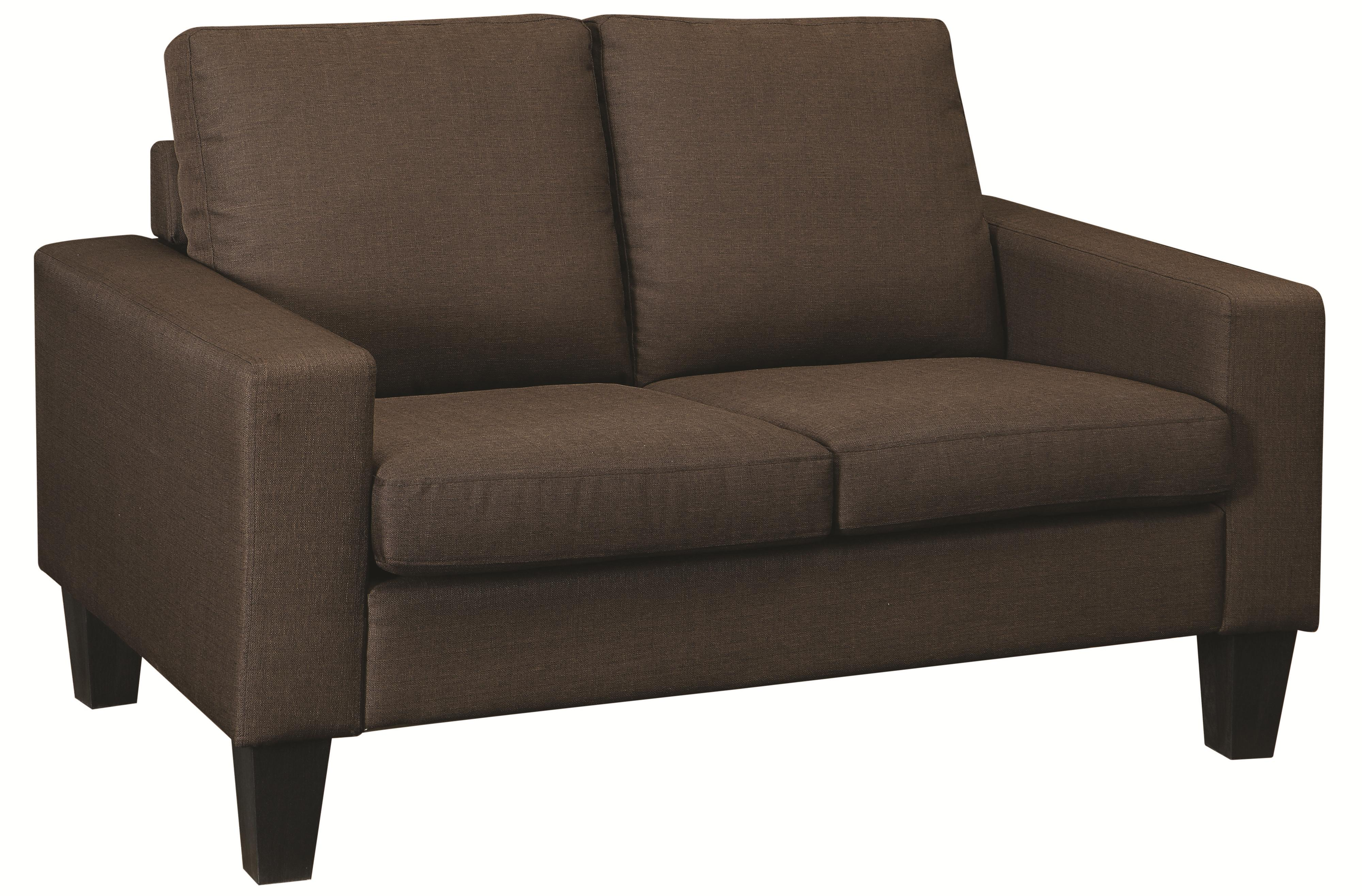 Coaster Bachman Love Seat - Item Number: 504768-Chocolate Linen