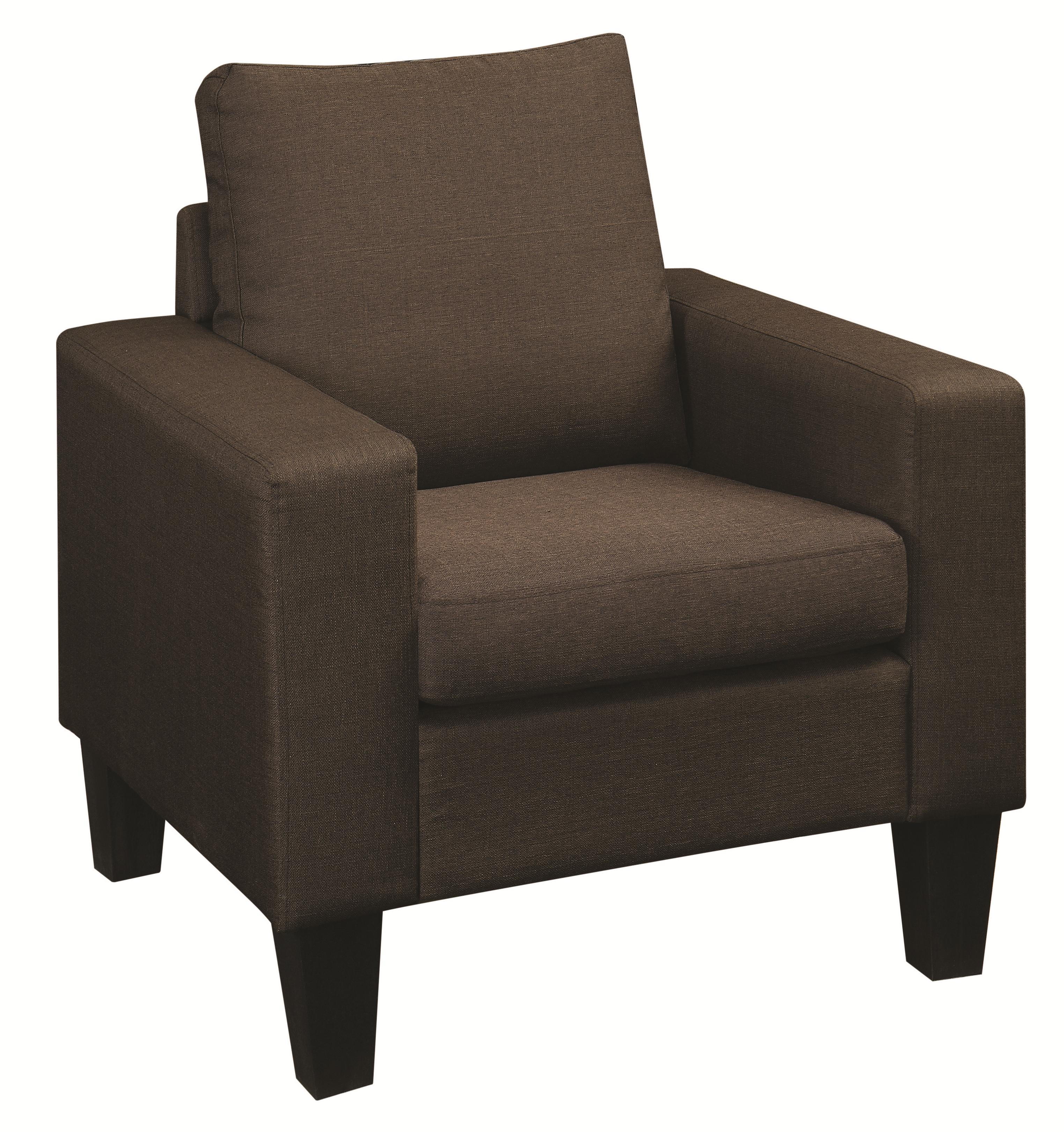 Coaster Bachman Upholstered Chair - Item Number: 504769-Chocolate Linen