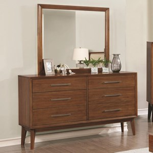 Coaster Banning Dresser and Mirror Combo