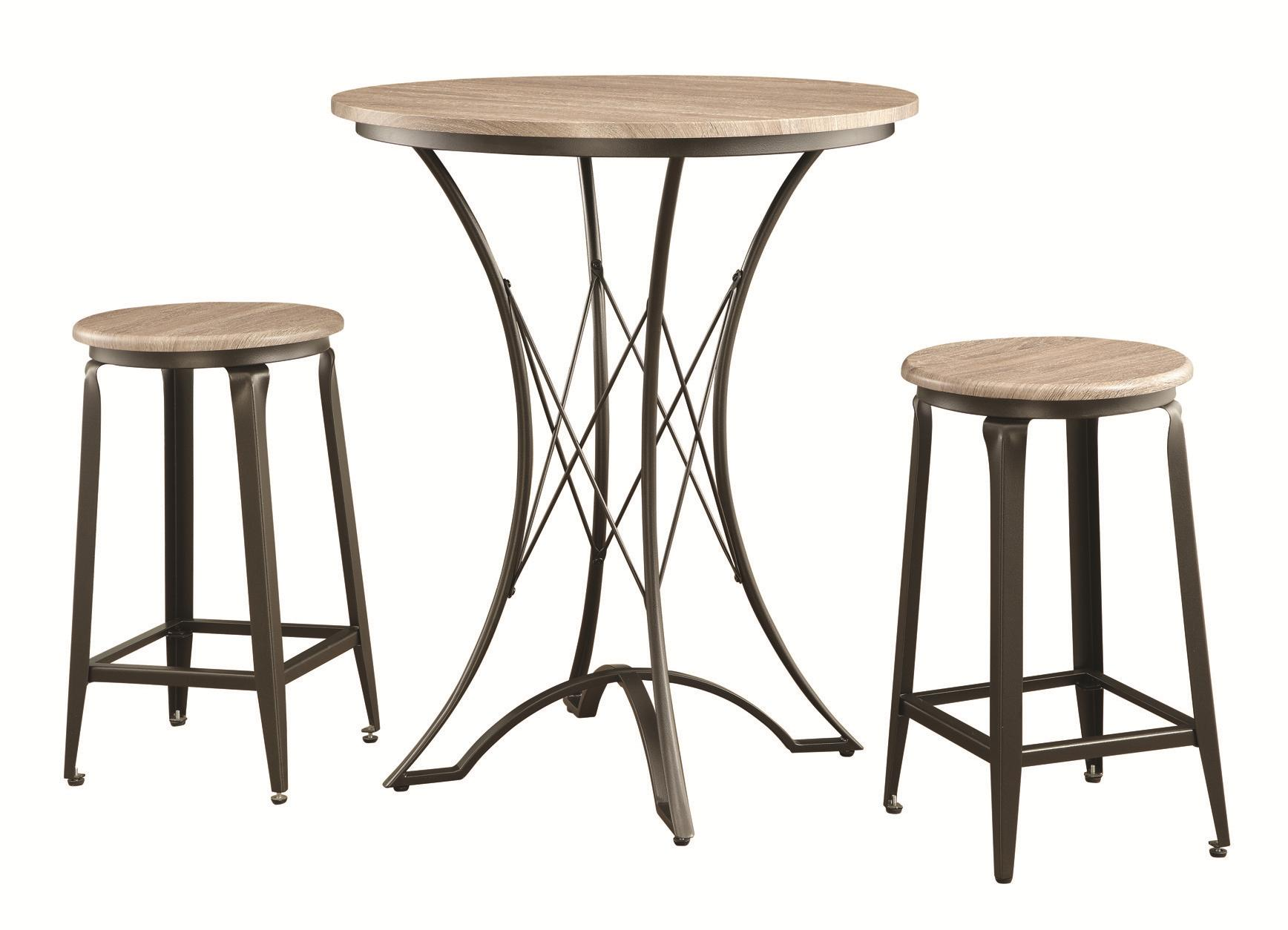 Coaster Bar Units and Bar Tables Counter Height Table Set with Stools - Item Number: 100006