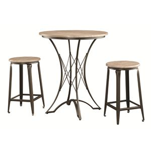 Coaster Bar Units and Bar Tables Counter Height Table Set with Stools
