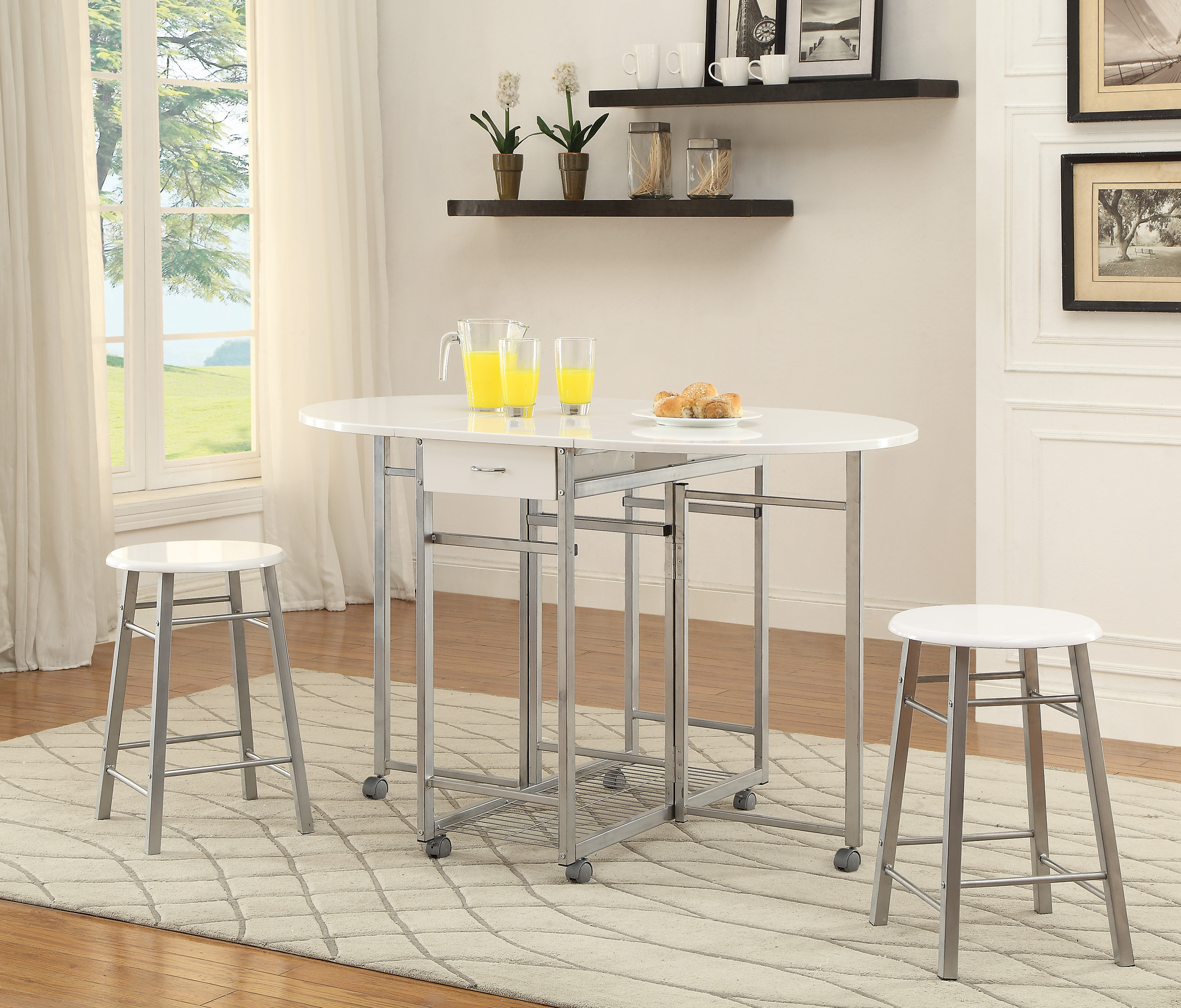 Coaster Bar Units and Bar Tables 3-Piece Dining Set - Item Number: 100080