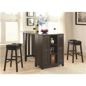 Coaster Bar Units and Bar Tables Counter Height Table Set