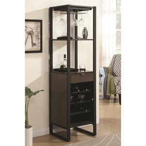 Coaster Bar Units and Bar Tables Wine Tower