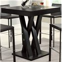 Coaster Bar Units and Bar Tables Crisscross Bar Table with Square Table Top - 100520