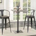 Coaster Bar Units and Bar Tables Industrial Bar Table and Stool Set
