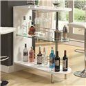 Coaster Bar Units and Bar Tables Contemporary White Bar Table - 101064