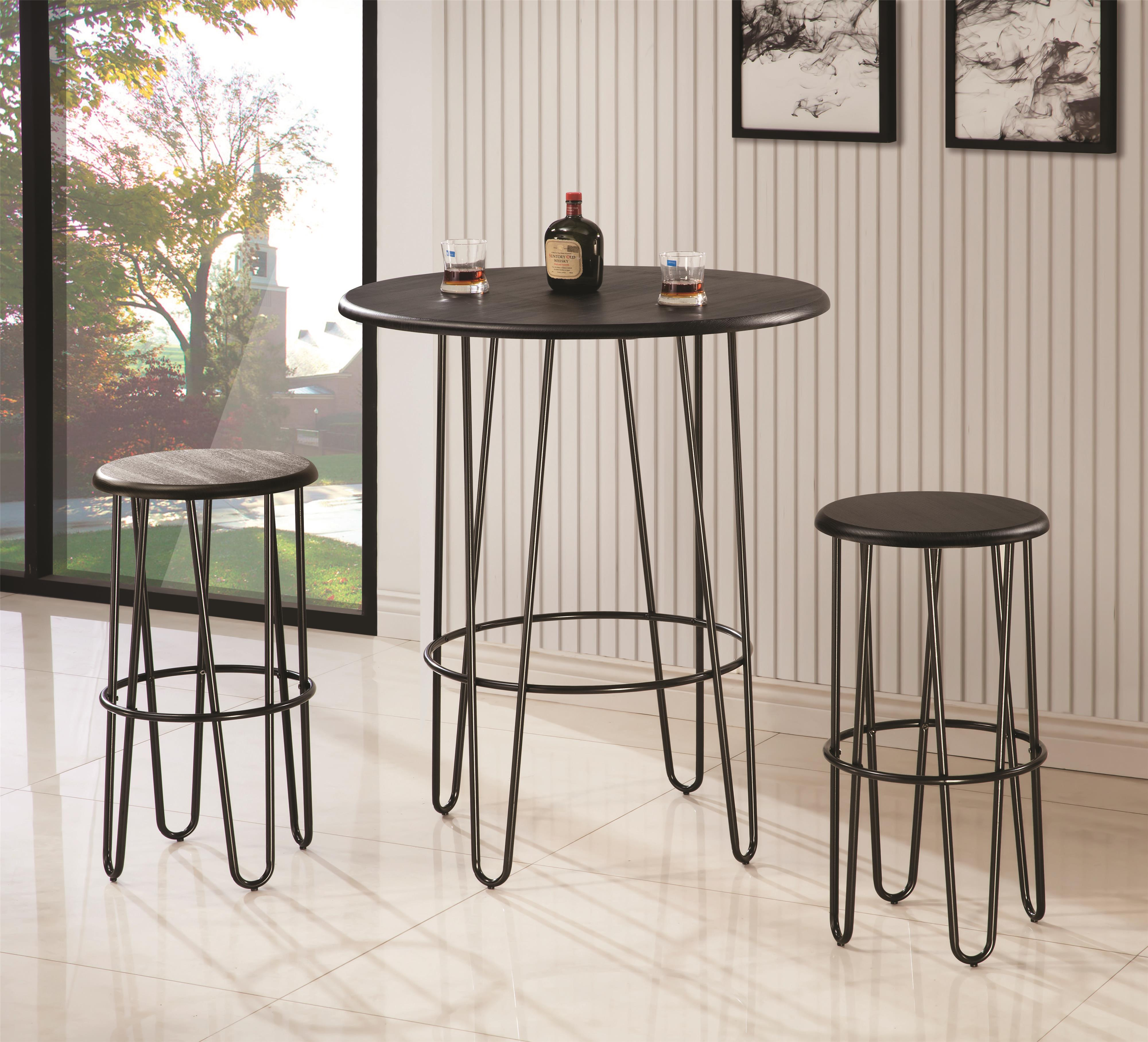 Coaster Bar Units and Bar Tables Bar Height Table Set - Item Number: 101423+2x101424