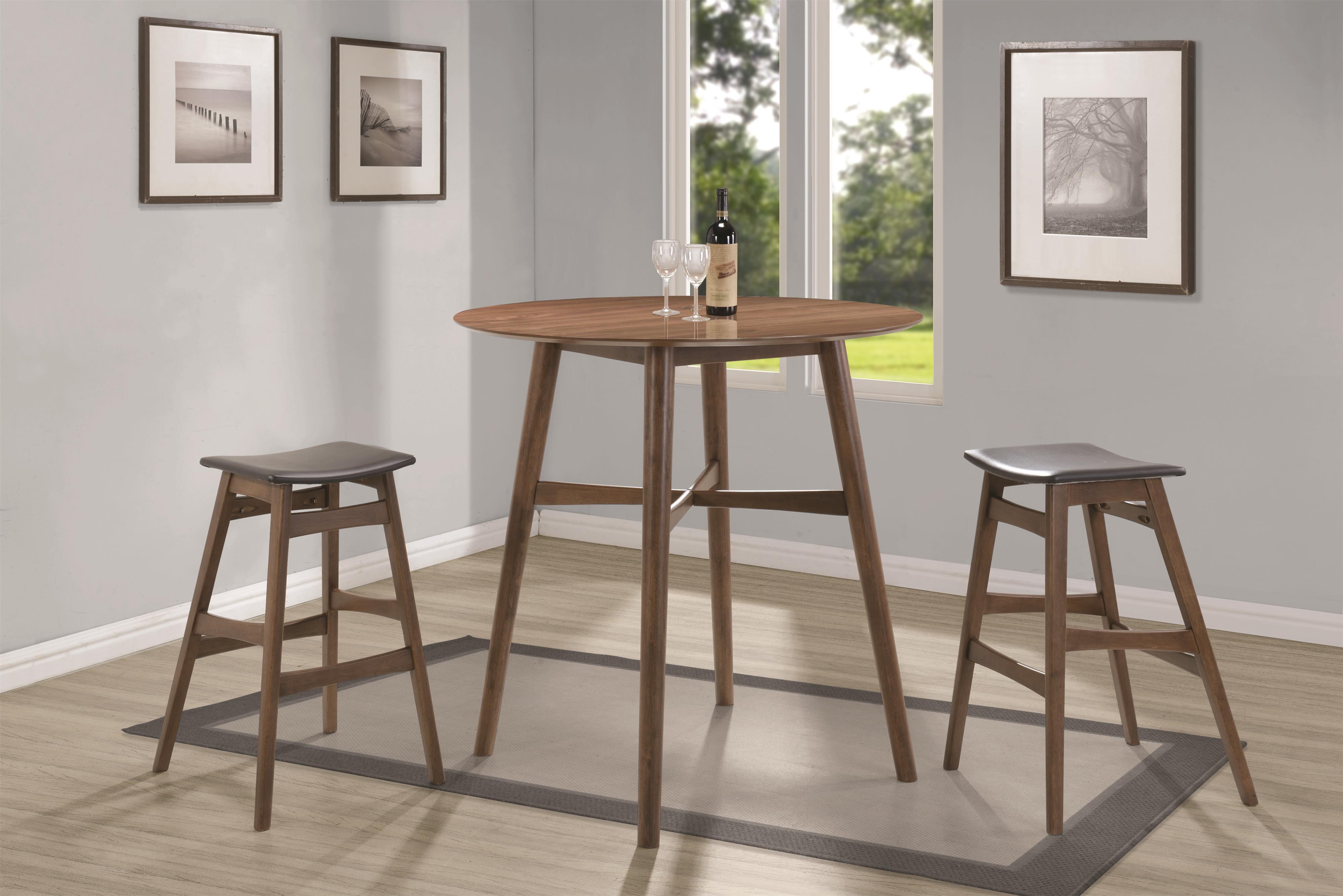 Coaster Bar Units and Bar Tables Pub Table  - Item Number: 101435+2x101437
