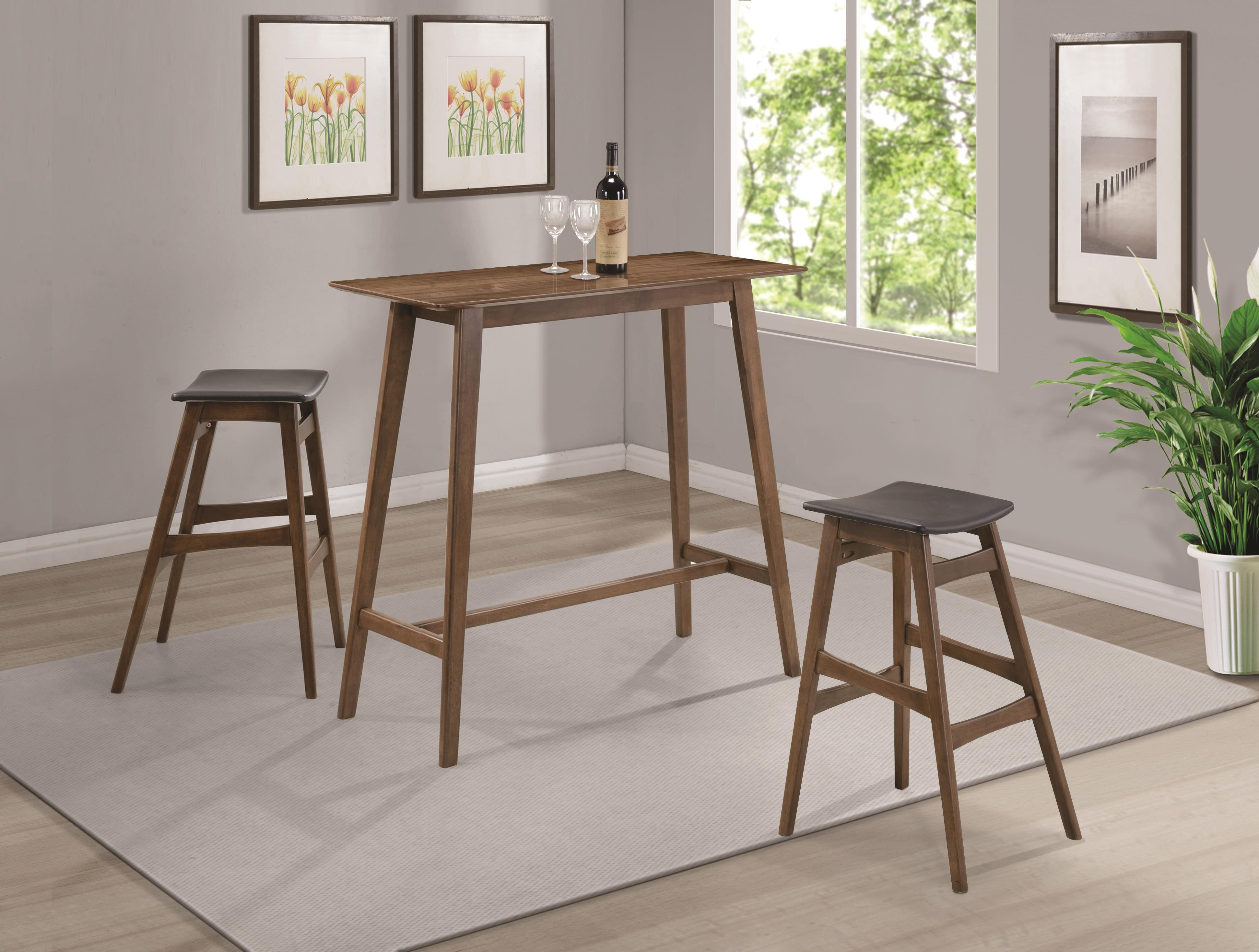 Coaster Bar Units and Bar Tables Pub Table - Item Number: 101436+2x101437