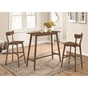 Coaster Bar Units and Bar Tables Bar Table and Stool Set - Item Number: 101436+2x101449