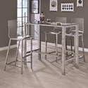 Coaster Bar Units and Bar Tables Bar Table and Stool Set - Item Number: 104873+4x100295