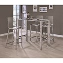 Coaster Bar Units and Bar Tables Contemporary Bar Table with Glass Top