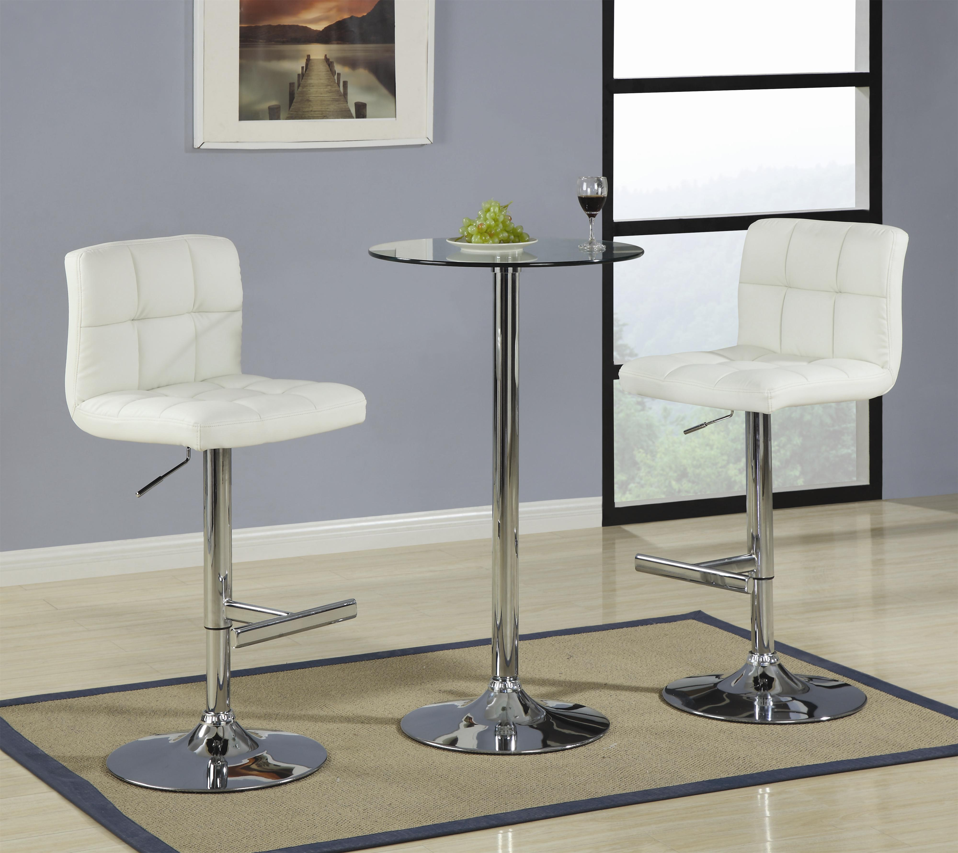 Bar Units and Bar Tables 3 Piece Bar Table with Glass Top Set  by Coaster at Standard Furniture