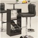 Coaster Bar Units and Bar Tables Black Bar Table - 120451