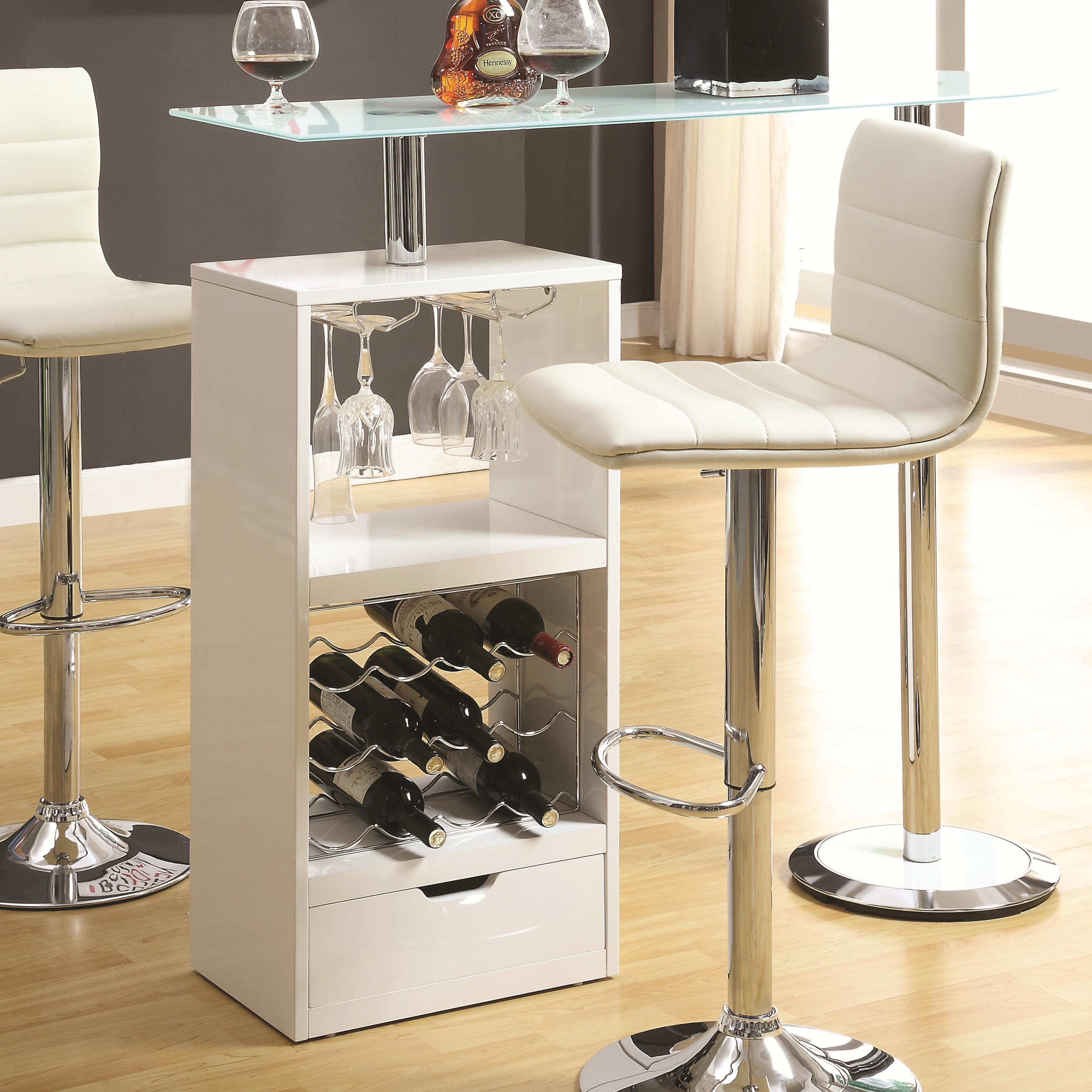 Coaster Bar Units and Bar Tables White Bar Table | Value City ...