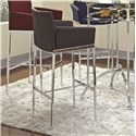 Coaster Bar Units and Bar Tables Linen Fabric Bar Stool (Charcoal) - 120727