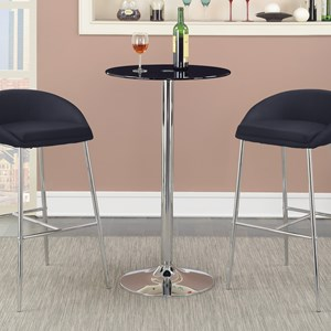 Coaster Bar Units and Bar Tables Bar Table(Black Glass)