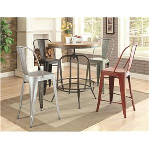 Coaster Bar Units and Bar Tables 5 Piece Counter Height Set