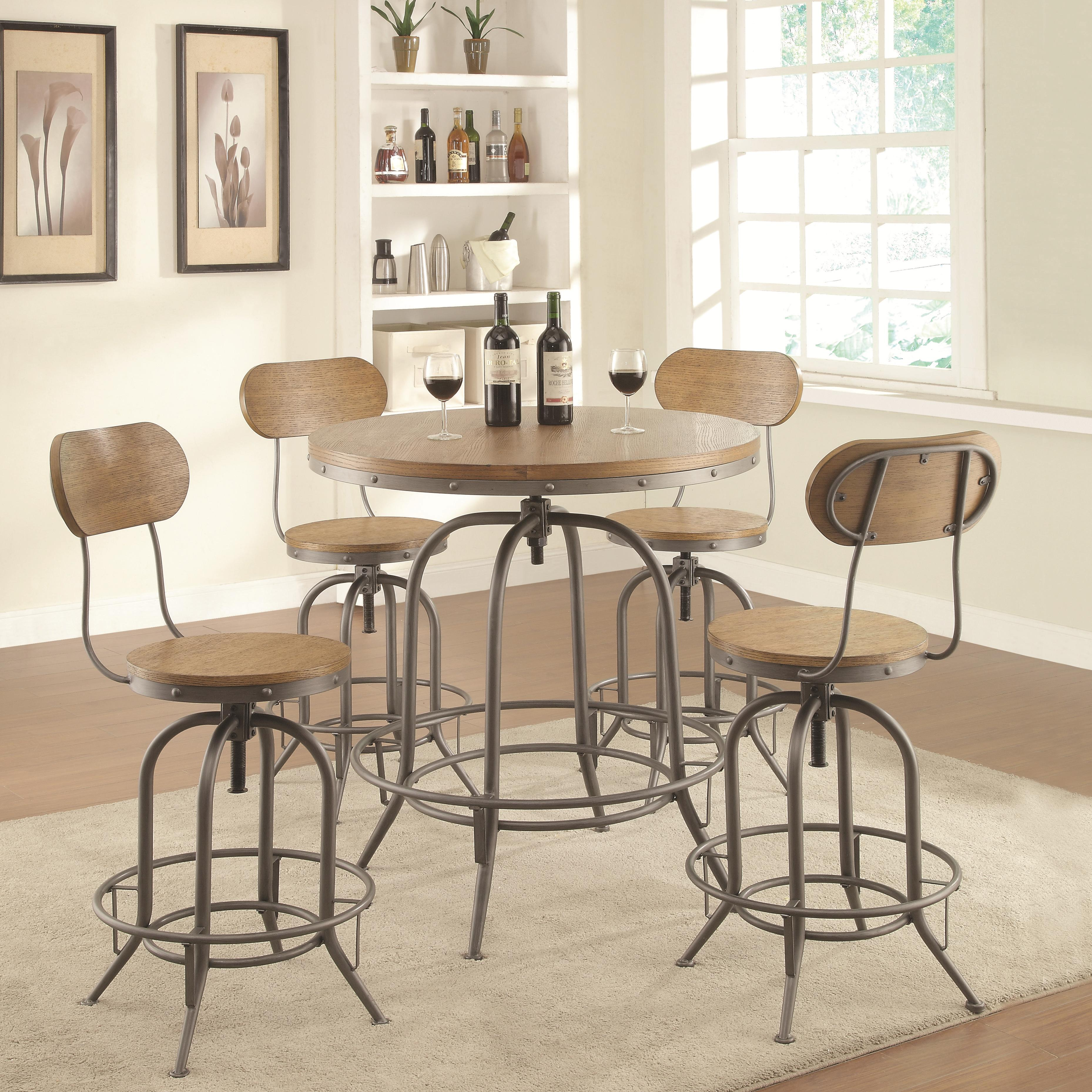 Coaster Bar Units and Bar Tables Adjustable Bar Table Set - Item Number: 122097+4x100057