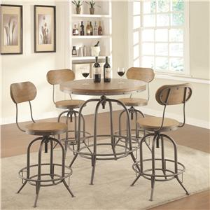 Adjustable Bar Table Set