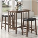 Coaster Bar Units and Bar Tables 3PC Set - Item Number: 130004