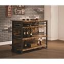 Coaster Bar Units and Bar Tables Rustic Bar Unit with Stemware Rack