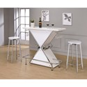 Coaster Bar Units and Bar Tables Bar and Stool Set - Item Number: 130078+2x190129