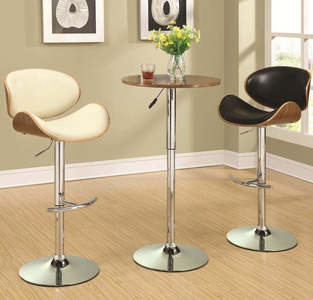 Coaster Bar Units and Bar Tables Adjustable Bar Table Set - Item Number: 130501+130504+130505