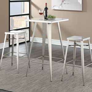 Coaster Bar Units and Bar Tables Table and Stool Set