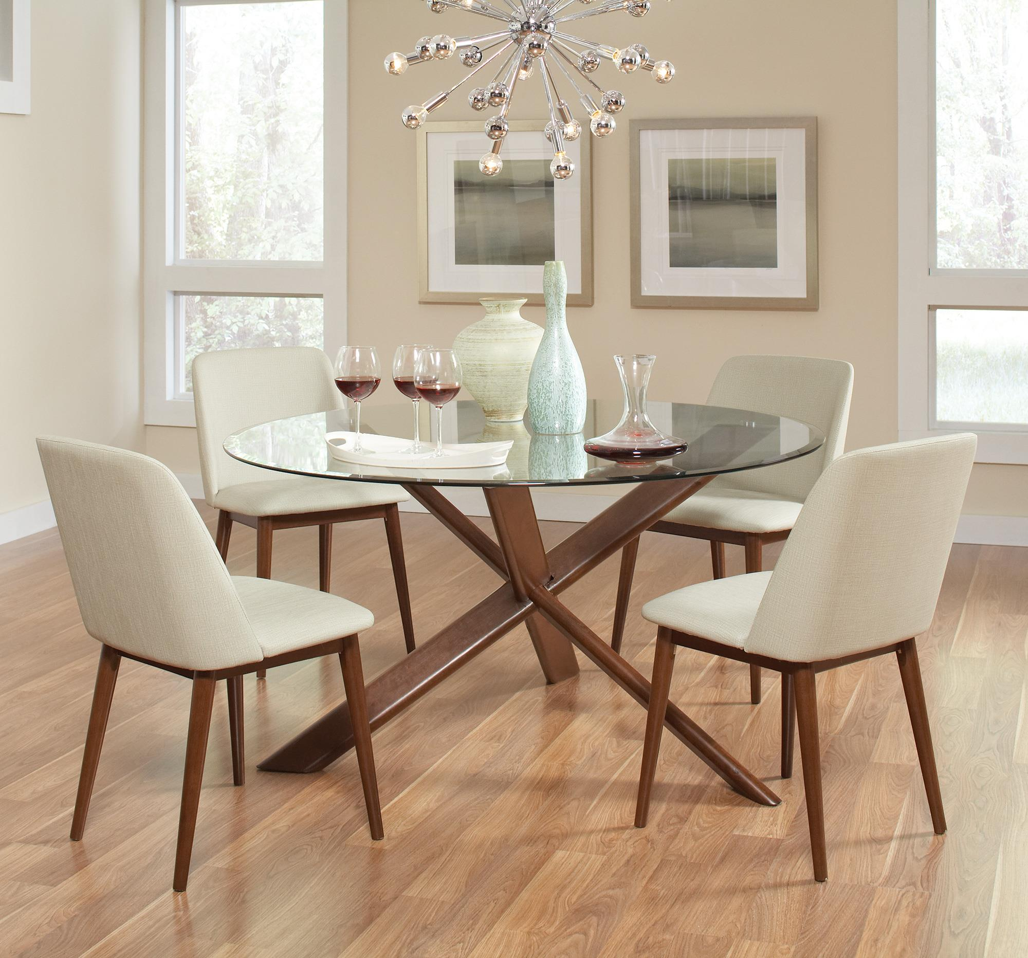 Coaster Barett Table and Chair Set - Item Number: 105991+4x992