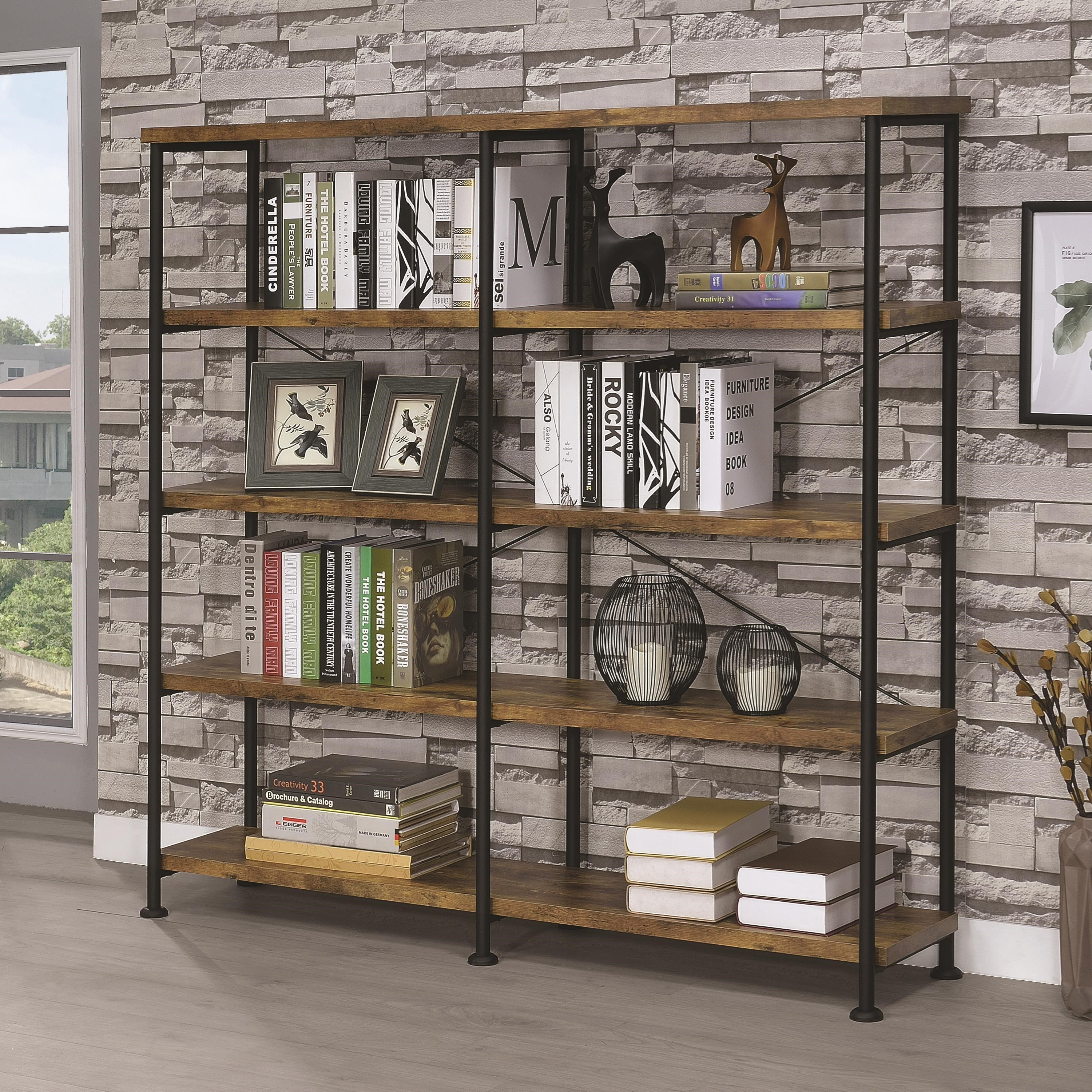 bookcases solid metal wood deidrian bookcase bookcaseetagere shelving bookcasewood etagere pin industrial and