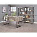 Coaster Guthrie Large Wood and Metal Open Bookcase