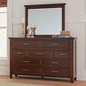 Coaster Barstow Dresser and Mirror Set - Item Number: 206433+34