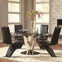 Coaster Barzini 5 Piece Table and Chair Set - Item Number: 105061+4x2