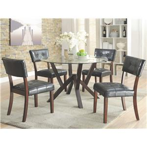Coaster Beaux 5 Piece Round Table Set
