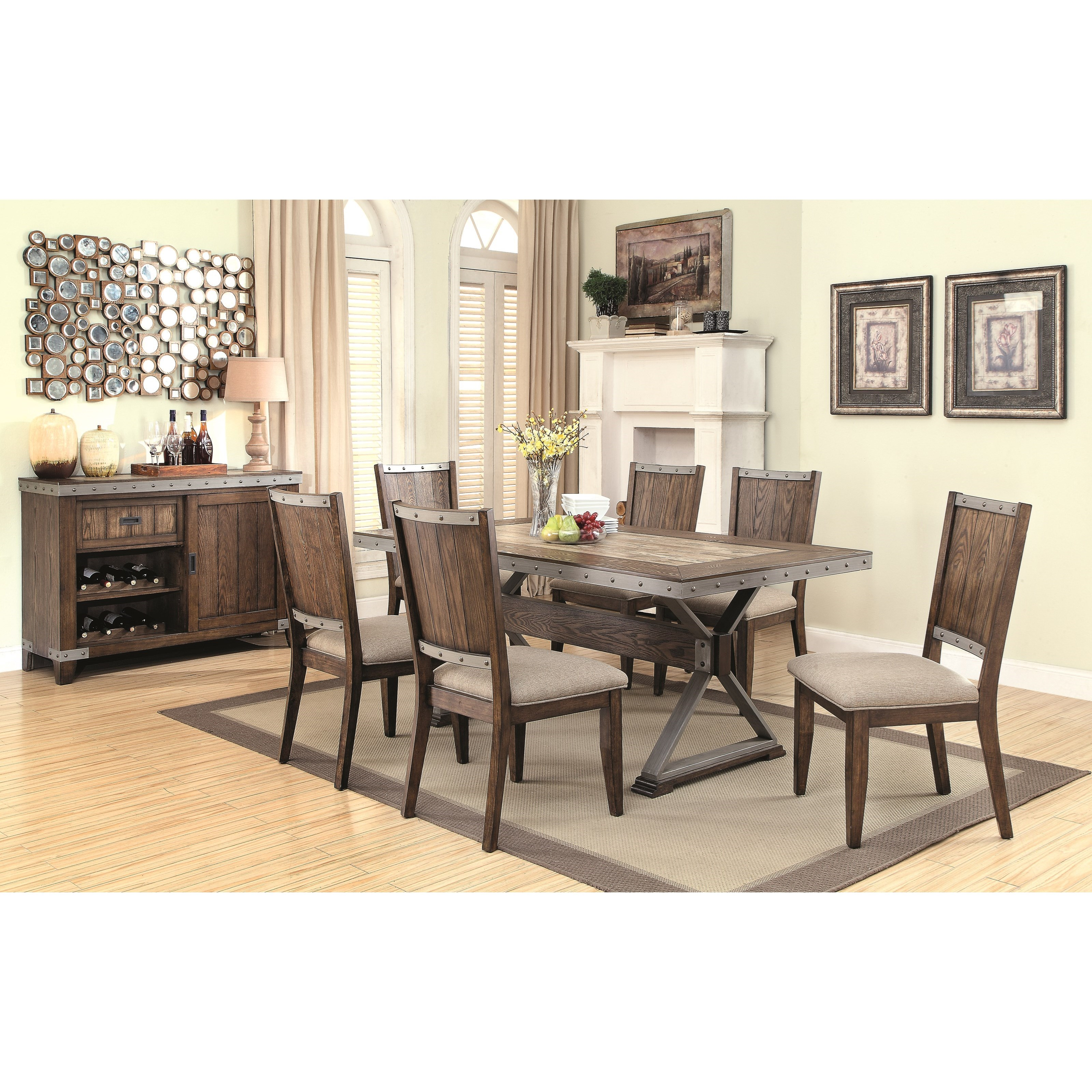Coaster beckett casual dining room group dunk bright for Casual dining room