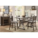 Coaster Beckett Counter Height Dining Room Group - Item Number: 107010 Dining Room Group 3